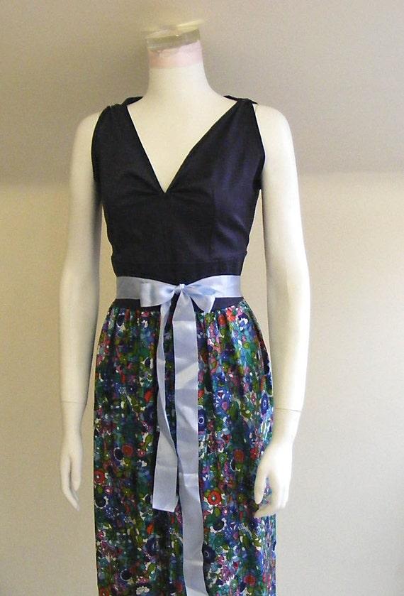 The Maxi Dress Supreme 60's Floral Print OOAK SALE