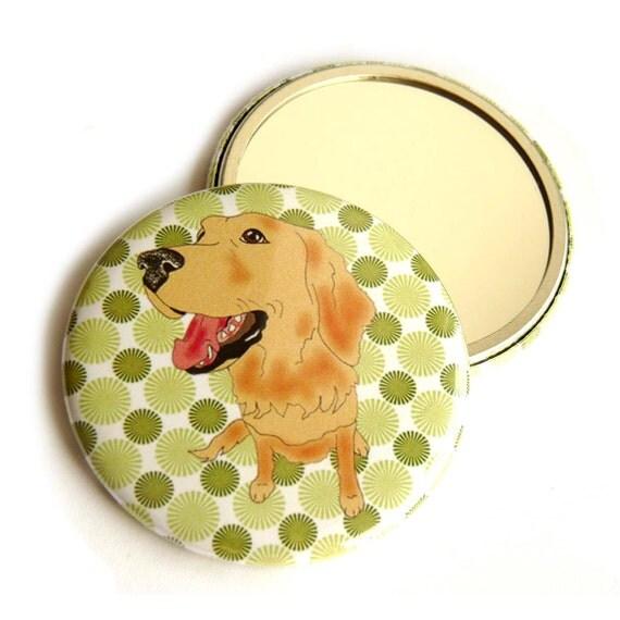 Golden Retriever dog pocket mirror