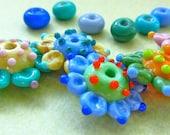 Lampwork Flower Beads