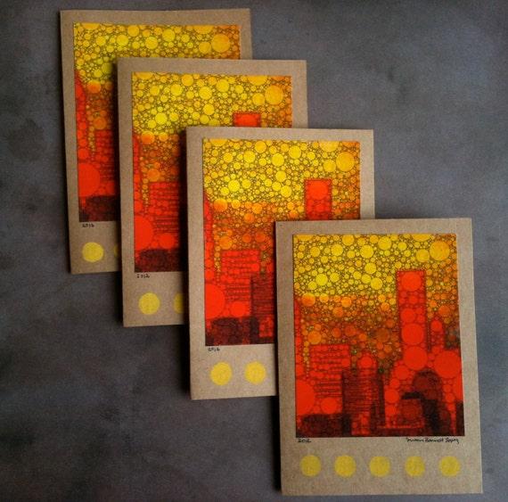 Bubbly NYC Skyline - Shades of Bright