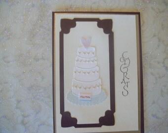 Congrats Wedding Brown