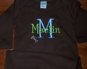 Chocolate Custom Personalized Infant Gown Monogrammed