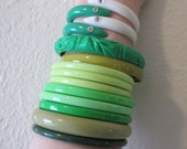 Green Plastic Bracelets