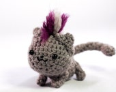 Punk Rawk Kitteh Amigurumi - Purple Mohawk