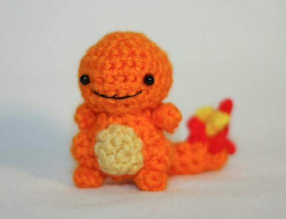 Amigurumi Pokemon Charmander : Charmander Made To Order Pokemon Amigurumi by GeekyCuteCrochet