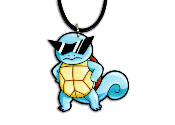 Squirtle Squad Pokemon Necklace - Deal With It Meme