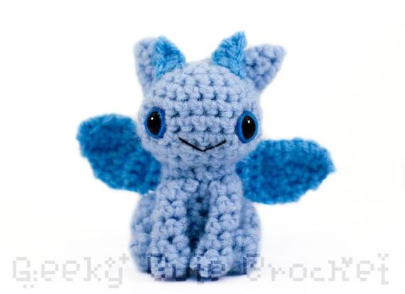 Dragon Amigurumi - Blue