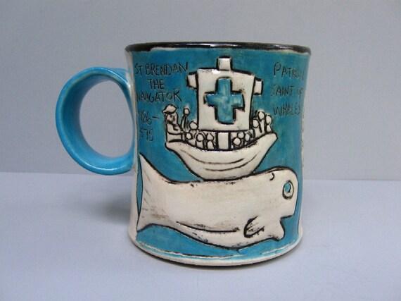 RESERVED Patron Saint Coffee Mug (Whales) (A)