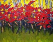 September Sumacs with Aspens - Original Painting
