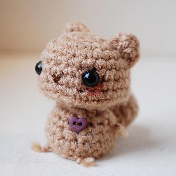 Kawaii Brown Squirrel - Mini Amigurumi