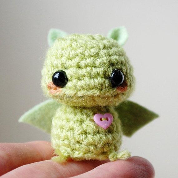 Baby Green Bat Kawaii Mini Amigurumi