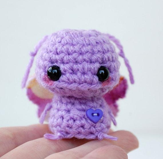 Kawaii Purple Butterfly Mini Amigurumi