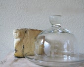 vintage glass BUTTER or CHEESE dome