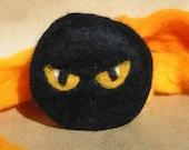 Halloween Ninja Eyes Felted Soap Organic Eco Friendly Soap in a Sweater
