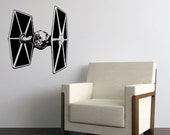 Vinyl Wall Art Decal Star Wars Empire Tie Fighter