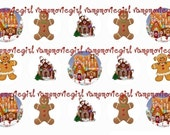 INSTANT DOWNLOAD...Christmas Gingerbread 1 Inch Circle Image Collage for Bottle Caps...Buy 3 get 1