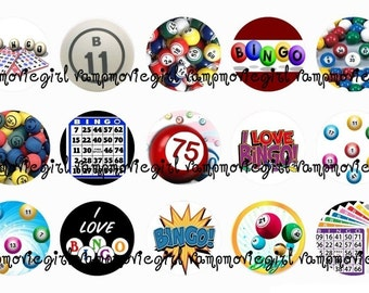 INSTANT DOWNLOAD... Bingo 1 Inch Circle Image Collage for Bottle Caps...Buy 3 get 1