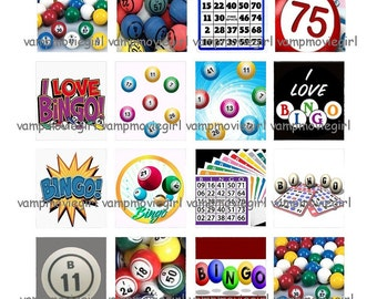 INSTANT DOWNLOAD...Bingo... Scrabble Tile Images Collage Sheet for Pendants ...Buy 3 get 1
