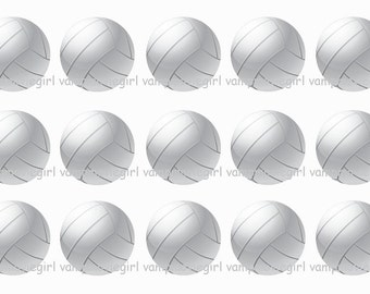 INSTANT DOWNLOAD...Editable Volleyball..... 1 Inch Circle Image Collage for Bottle Caps...Buy 3 get 1