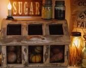 Primitive Bean Bin Vegetable storage Cupboard kitchen