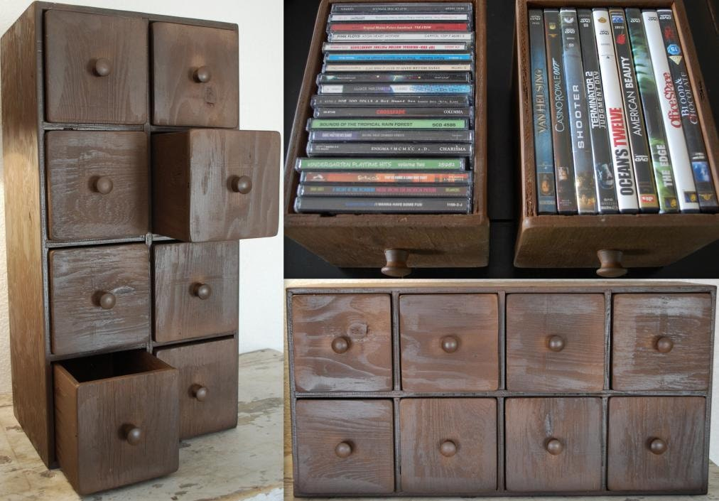 8 drawer cd dvd apothecary cabinet storage chest by. Black Bedroom Furniture Sets. Home Design Ideas