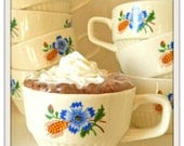 cornflower and wheat mugs (set of eight)