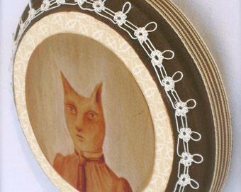 Catrine (print mounted on wood)