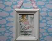 Shh... mother and baby sleeping door sign