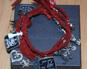 Twilight saga inspired suede wrap Bracelet