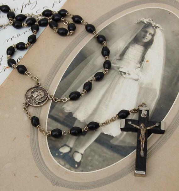 Vintage Wood Rosary Italy