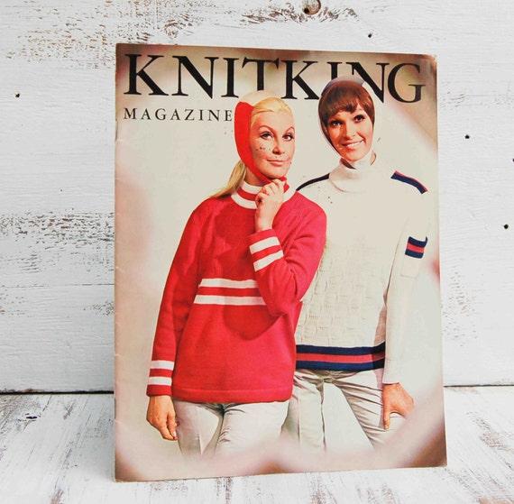 5 Vintage  KNITKING Magazines 1960's Knitting Magazine Reto