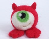 Chuck the Evil Eye - Needle Felted Ogglet