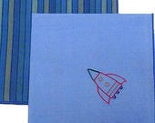 Blue and Striped Organic Cotton Lawn Hankies for Kids