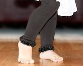 Black Baby Toddler Leg Warmers FREE SHIPPING