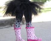 Black Leopard Print Baby Toddler Leg Warmers FREE SHIPPING