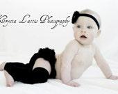Black Bamboo Baby Toddler Leg Warmers