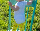 Yellow Dainty Dots Baby Leg Warmers