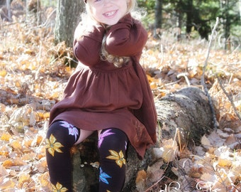 Autumn Brown Flowers Baby Toddler Leg Warmers