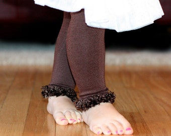 Chocolate Brown Baby Leg Warmers