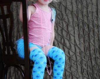 Turquoise Skulls and Peace Signs Argyle Baby Toddler Leg Warmers