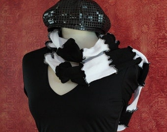 Black and White Endless Scarf Clearance