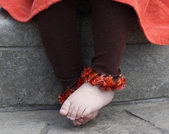 Brown Orange Red Baby Toddler Leg Warmers