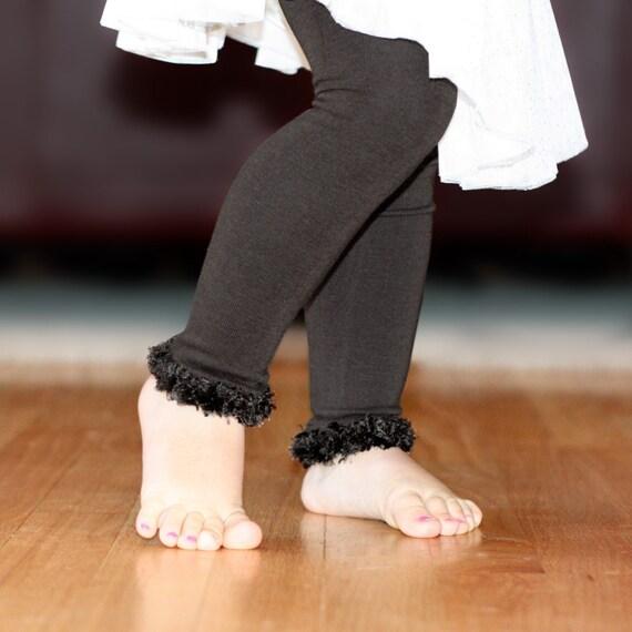 Black Baby Toddler Leg Warmers