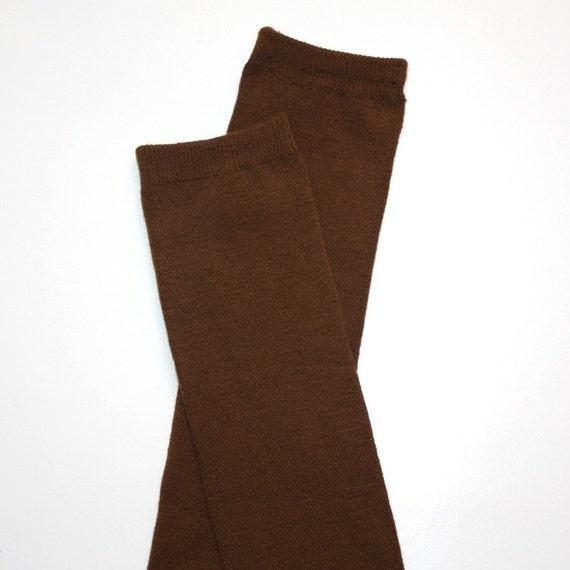 Chocolate Brown Baby Toddler Leg Warmers