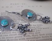 6mm Turquoise Sterling Silver disc earrings