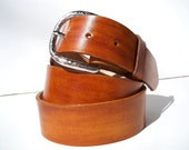 British Tan Smooth Leather Belt Your Size