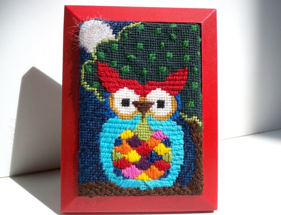 Needlepoint Crafty Lil' Night Owl