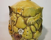 Yellow Mushroom Jar - Cookie Jar