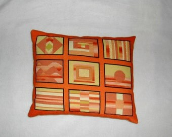 Handmade Needlepoint Pillow, Retro