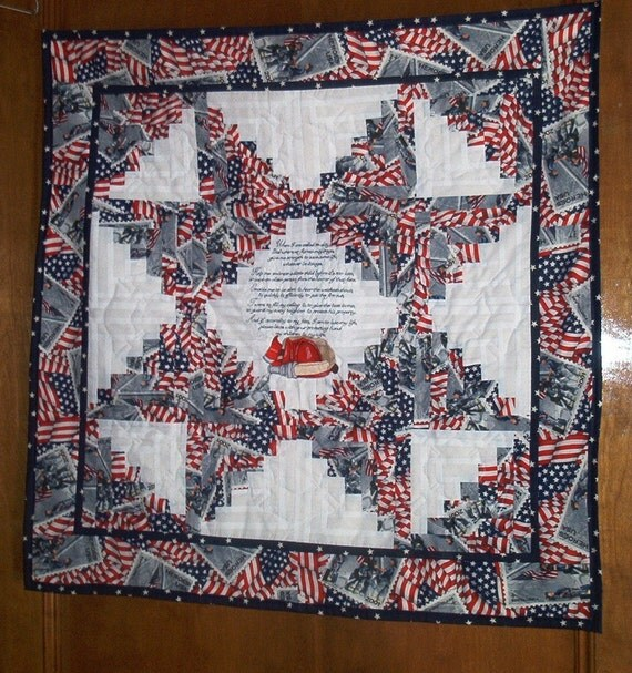 Firefighter Prayer Quilted Wall Hanging Great Gift For Any